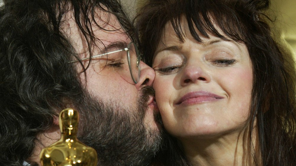 Peter Jackson and Fran Walsh accepting an Oscar for The Lord of the Rings