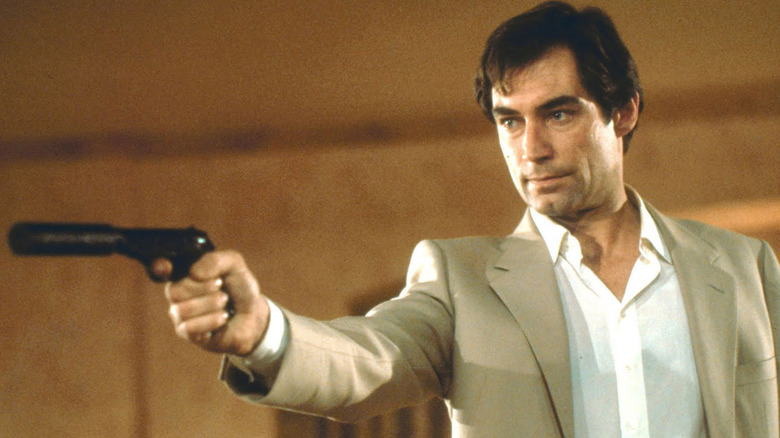 Timothy Dalton as James Bond in The Living Daylights