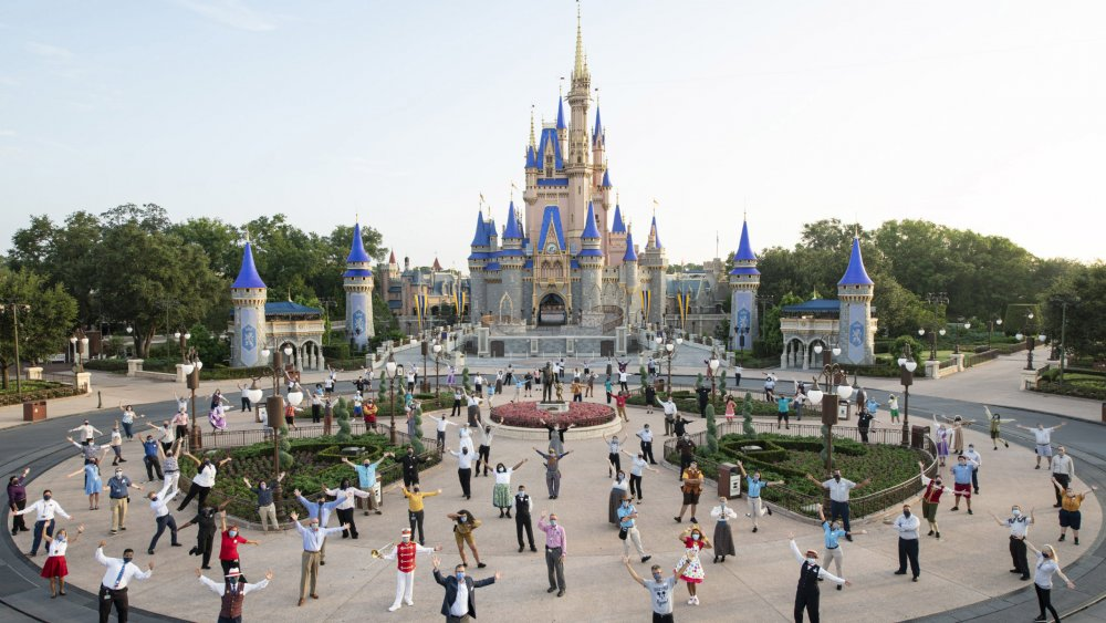 Disney lights Cinderella Castle blue in honor of World