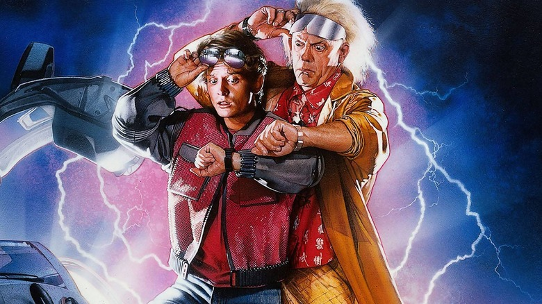 Christopher Lloyd and Michael J. Fox in Back to the Future poster