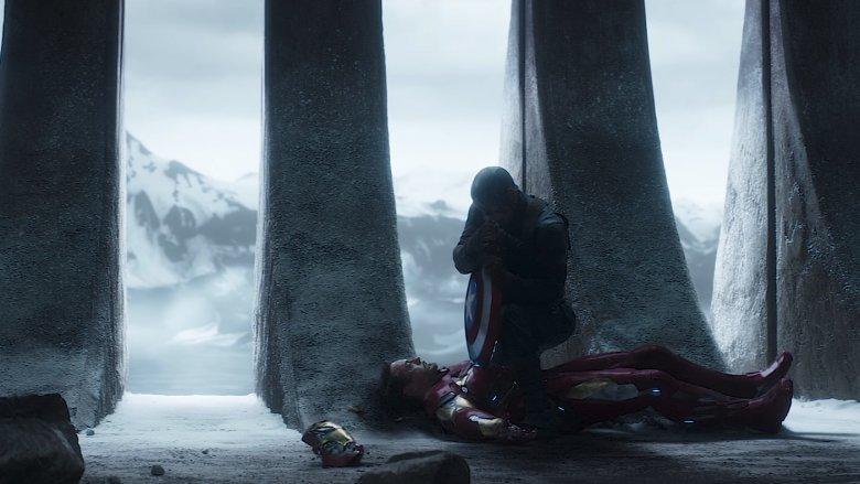 Captain America defeats Iron Man