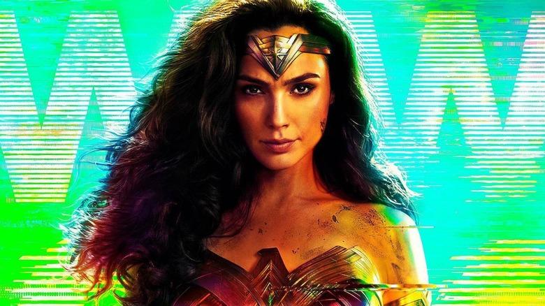 Wonder Woman 1984 green static poster