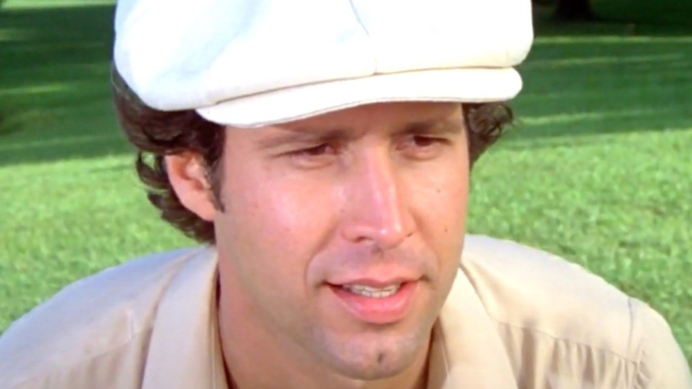 Chevy Chase being the ball