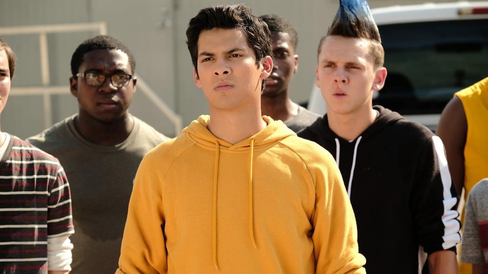 Xolo Mariduena leads his fellow students as Miguel in Cobra Kai