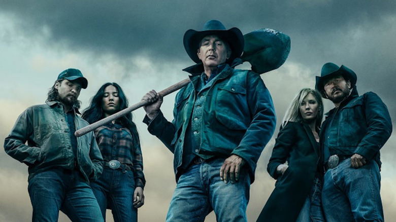 Kevin Costner as John Dutton leading the cast of Yellowstone