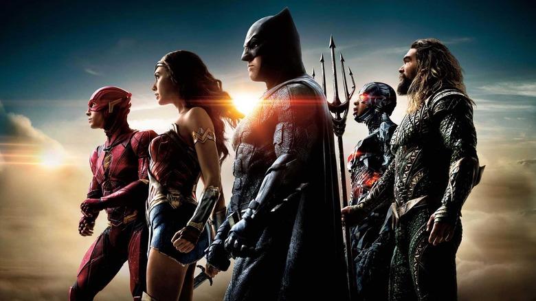 The cast of Justice League in a promo image