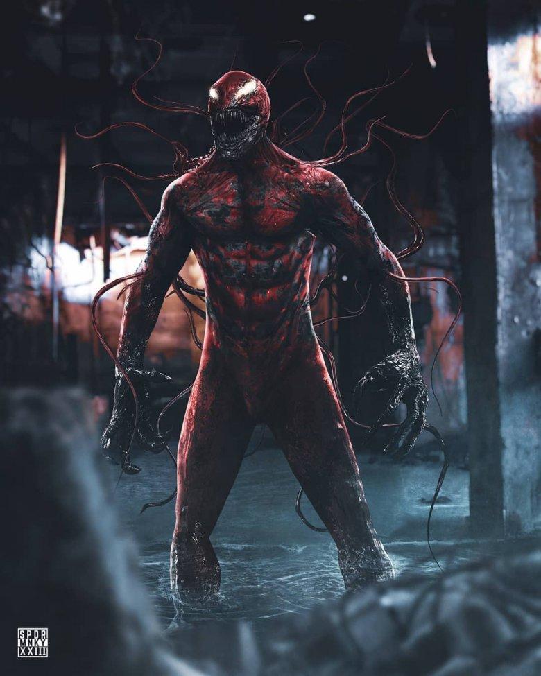Awesome fan art imagines Carnage in Venom 2